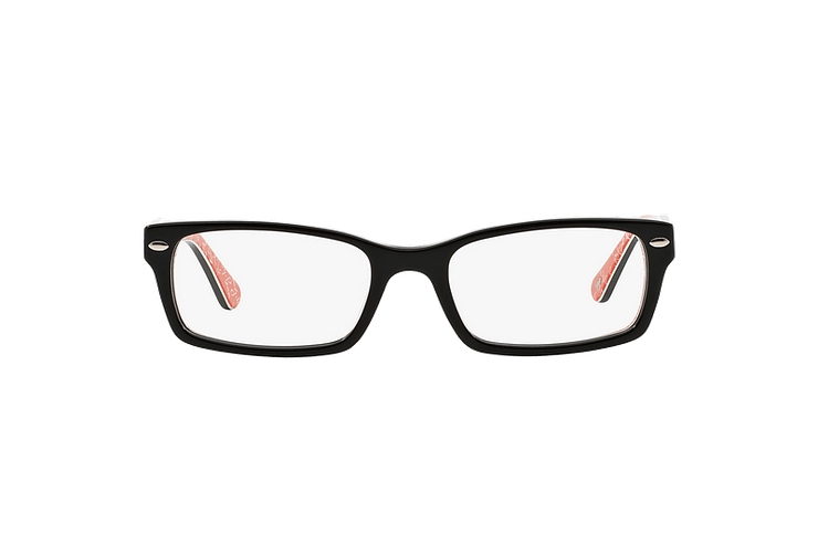 Armazón óptico Ray-Ban Rectangular RX5206 Top Black on Texture Red cod. RX5206 2479 54 - Image 12