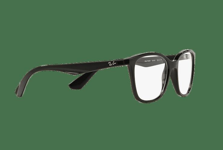 Armazón óptico Ray Ban RX7066 Shiny Black cod. RX7066 2000 54 - Image 10