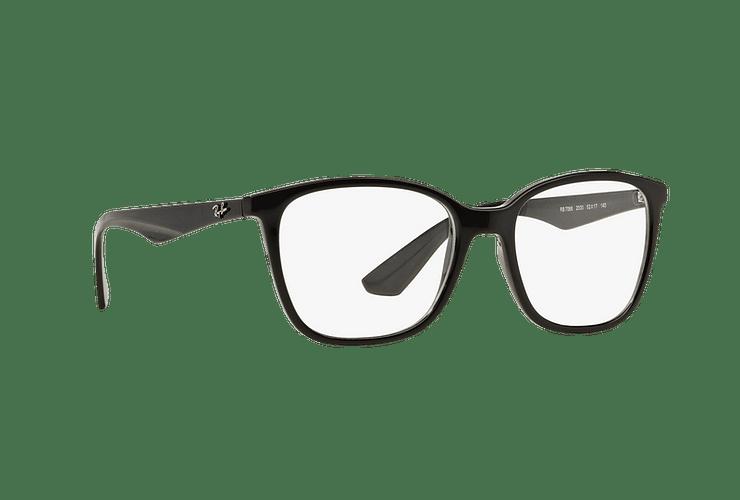 Armazón óptico Ray Ban RX7066 Shiny Black cod. RX7066 2000 54 - Image 11