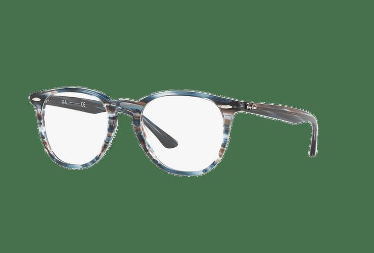 Armazón óptico Ray Ban Round RX7159 Blue Grey Stripped cod. RX7159 5750 52 - Image 1