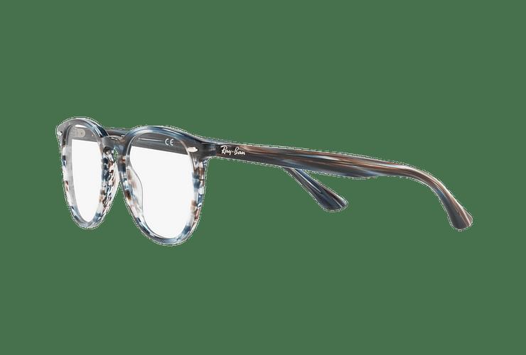 Armazón óptico Ray Ban Round RX7159 Blue Grey Stripped cod. RX7159 5750 52 - Image 2