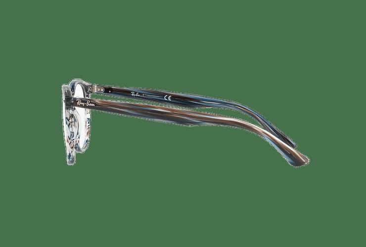 Armazón óptico Ray Ban Round RX7159 Blue Grey Stripped cod. RX7159 5750 52 - Image 3