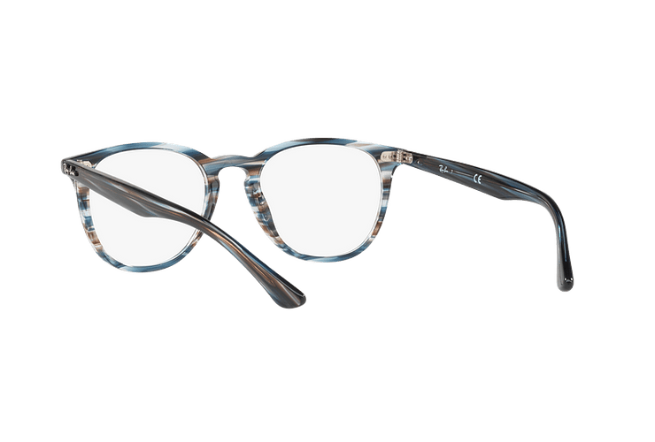 Armazón óptico Ray Ban Round RX7159 Blue Grey Stripped cod. RX7159 5750 52 - Image 5
