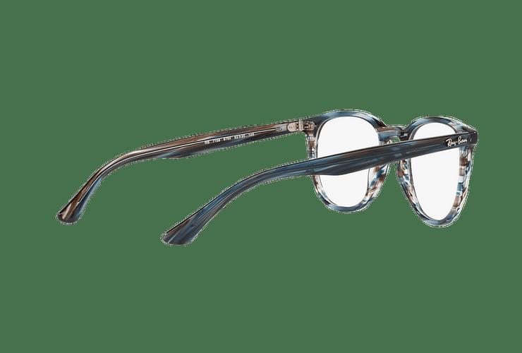 Armazón óptico Ray Ban Round RX7159 Blue Grey Stripped cod. RX7159 5750 52 - Image 8
