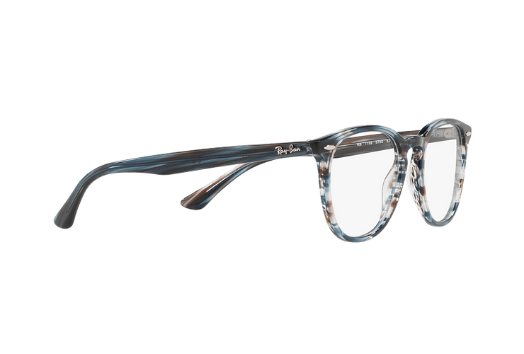 Armazón óptico Ray Ban Round RX7159 Blue Grey Stripped cod. RX7159 5750 52 - Image 10
