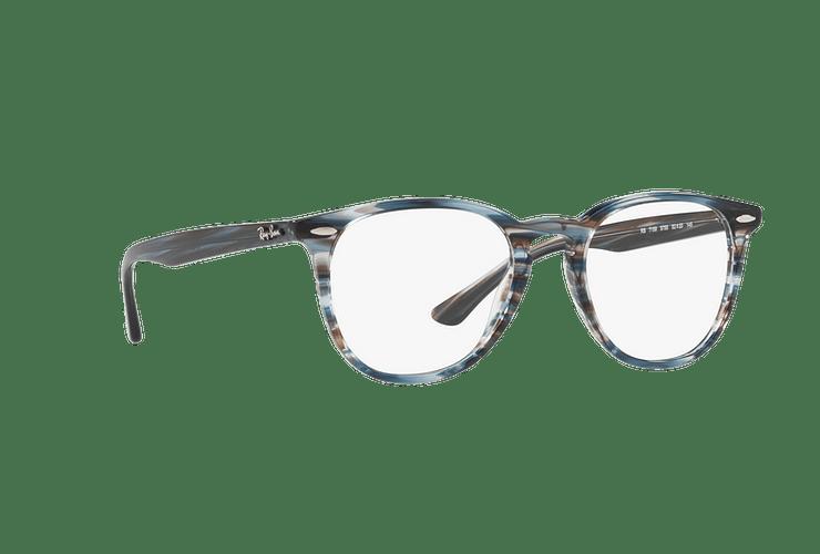 Armazón óptico Ray Ban Round RX7159 Blue Grey Stripped cod. RX7159 5750 52 - Image 11