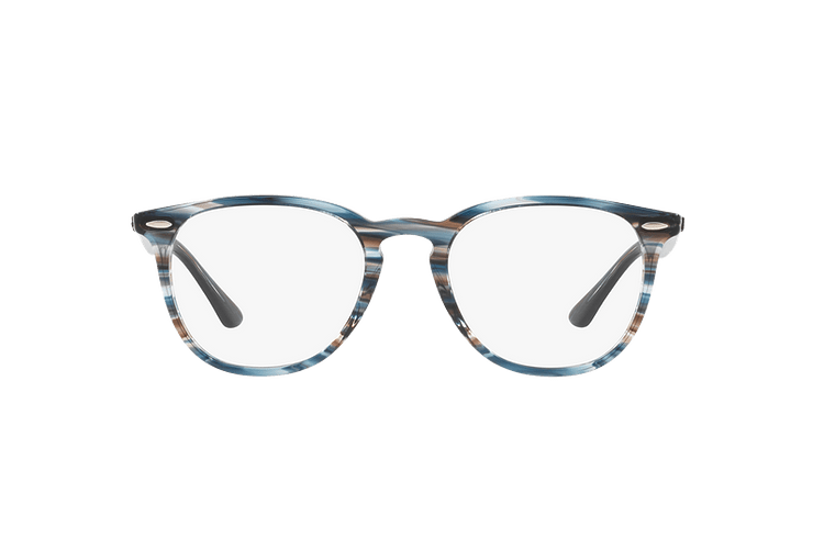 Armazón óptico Ray Ban Round RX7159 Blue Grey Stripped cod. RX7159 5750 52 - Image 12