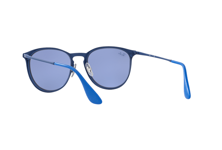 Ray Ban Erika Metal Rubber Electric Blue lente Blue Light Flash cod. RB3539 90221U 54 - Image 5