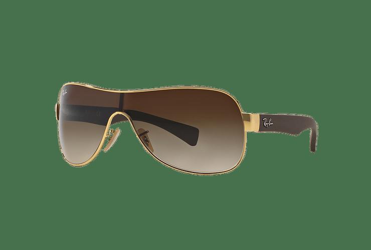 Ray Ban Monolente RB3471 Gold lente Brown Gradient cod. RB3471 001/13 32 - Image 1
