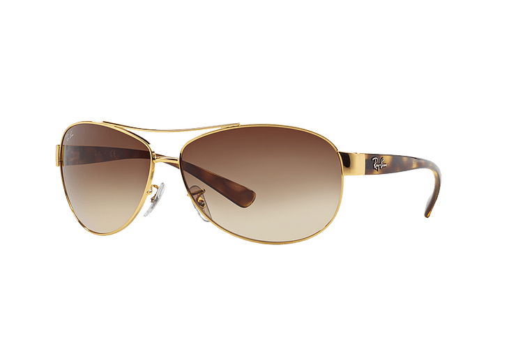 Ray Ban Aviador Ovalado RB3386 Gold lente Brown Gradient cod. RB3386 001/13 67 - Image 1