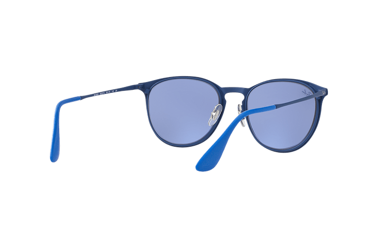 Ray Ban Erika Metal Rubber Electric Blue lente Blue Light Flash cod. RB3539 90221U 54 - Image 7