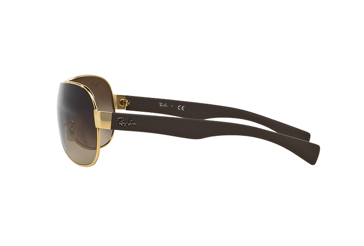 Ray Ban Monolente RB3471 Gold lente Brown Gradient cod. RB3471 001/13 32 - Image 3