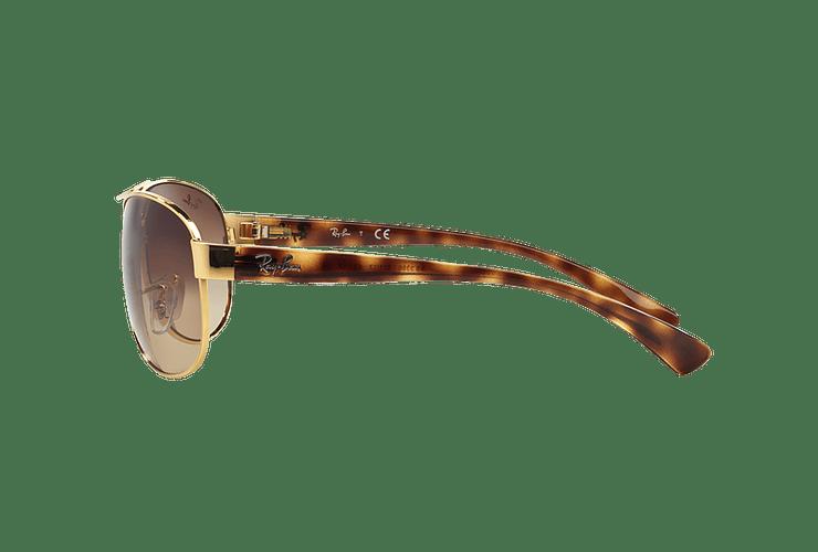 Ray Ban Aviador Ovalado RB3386 Gold lente Brown Gradient cod. RB3386 001/13 67 - Image 3