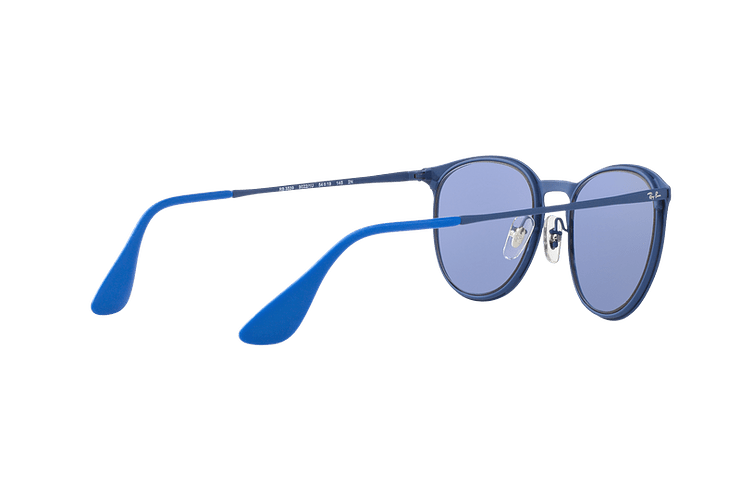 Ray Ban Erika Metal Rubber Electric Blue lente Blue Light Flash cod. RB3539 90221U 54 - Image 8