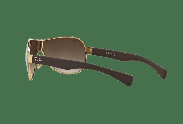 Ray Ban Monolente RB3471 Gold lente Brown Gradient cod. RB3471 001/13 32 - Image 4