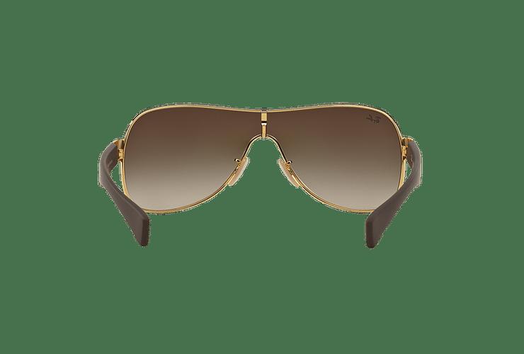 Ray Ban Monolente RB3471 Gold lente Brown Gradient cod. RB3471 001/13 32 - Image 6