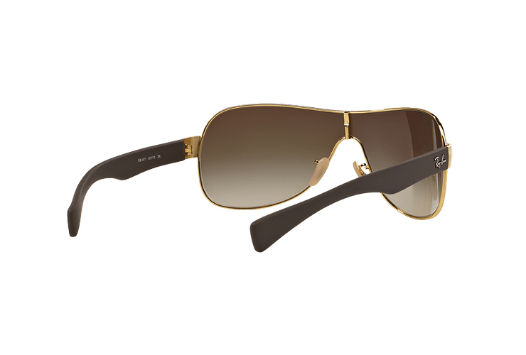 Ray Ban Monolente RB3471 Gold lente Brown Gradient cod. RB3471 001/13 32 - Image 7