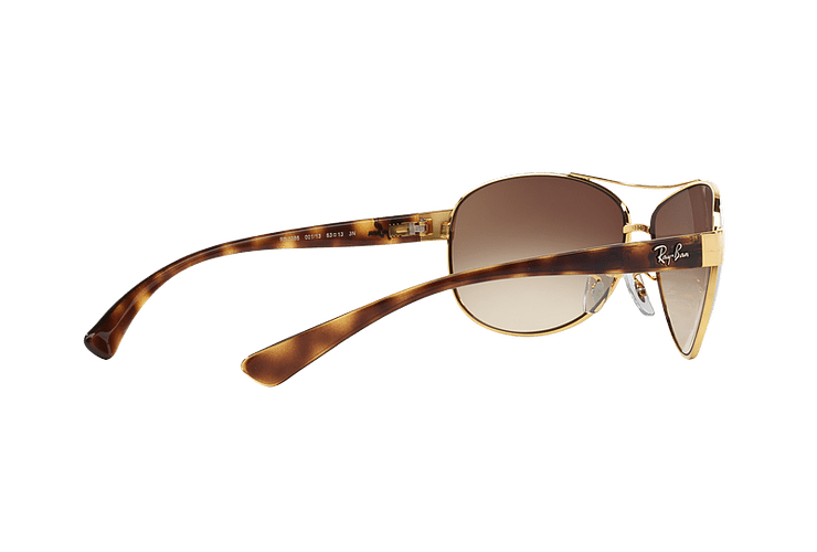 Ray Ban Aviador Ovalado RB3386 Gold lente Brown Gradient cod. RB3386 001/13 67 - Image 8