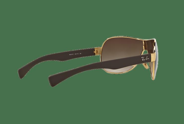 Ray Ban Monolente RB3471 Gold lente Brown Gradient cod. RB3471 001/13 32 - Image 8
