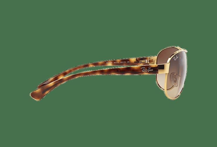 Ray Ban Aviador Ovalado RB3386 Gold lente Brown Gradient cod. RB3386 001/13 67 - Image 9