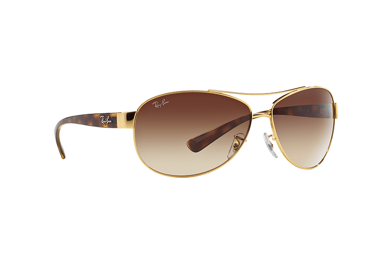 Ray Ban Aviador Ovalado RB3386 Gold lente Brown Gradient cod. RB3386 001/13 67 - Image 11