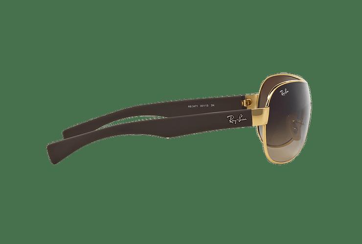 Ray Ban Monolente RB3471 Gold lente Brown Gradient cod. RB3471 001/13 32 - Image 9