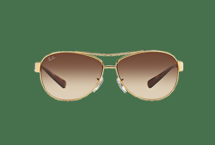 Ray Ban Aviador Ovalado RB3386 Gold lente Brown Gradient cod. RB3386 001/13 67 - Image 12