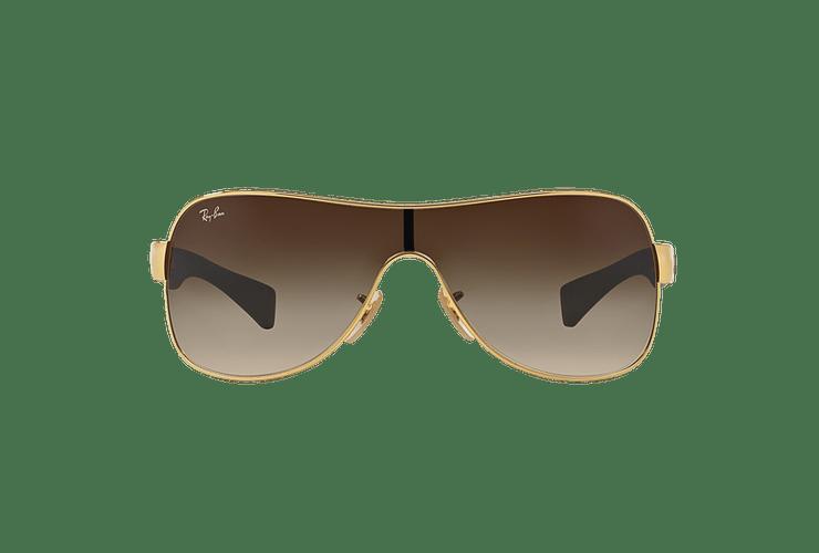 Ray Ban Monolente RB3471 Gold lente Brown Gradient cod. RB3471 001/13 32 - Image 12