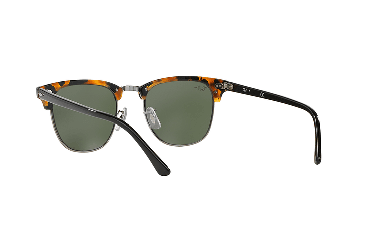 Ray Ban Clubmaster Spotted Black Havana lente Green cod. RB3016 1157 49 - Image 5