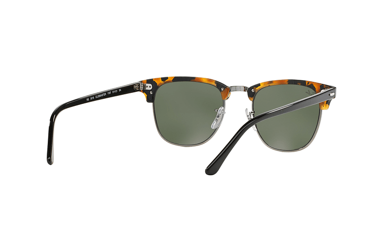 Ray Ban Clubmaster Spotted Black Havana lente Green cod. RB3016 1157 49 - Image 7