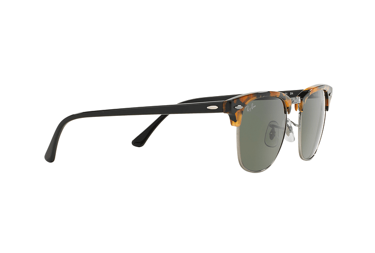 Ray Ban Clubmaster Spotted Black Havana lente Green cod. RB3016 1157 49 - Image 10