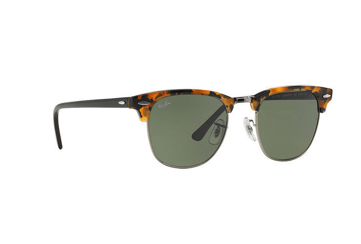 Ray Ban Clubmaster Spotted Black Havana lente Green cod. RB3016 1157 49 - Image 11