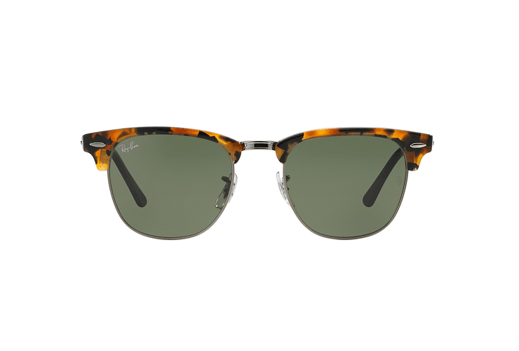 Ray Ban Clubmaster Spotted Black Havana lente Green cod. RB3016 1157 49 - Image 12