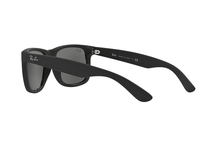 Ray Ban Justin Rubber Black lente Mirror Silver cod. RB4165 622/6G 54 - Image 4
