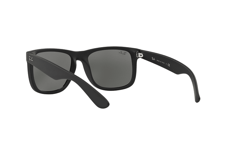Ray Ban Justin Rubber Black lente Mirror Silver cod. RB4165 622/6G 54 - Image 5