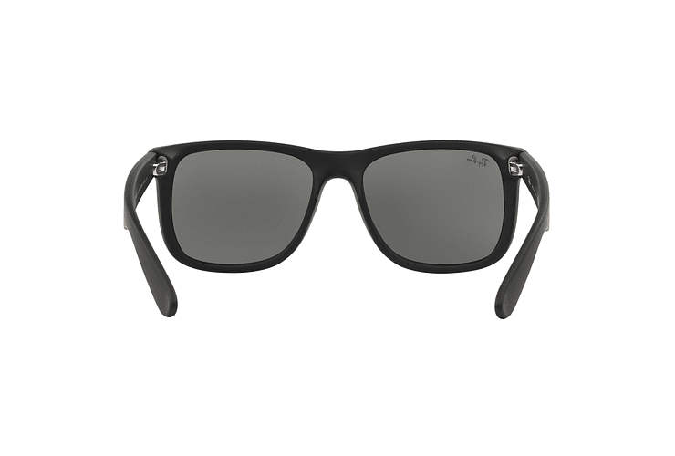Ray Ban Justin Rubber Black lente Mirror Silver cod. RB4165 622/6G 54 - Image 6