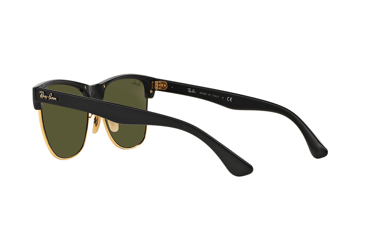 Ray-Ban Clubmaster Oversized Shiny Black lente Silver Mirror cod. RB4175 877/30 57 - Image 4