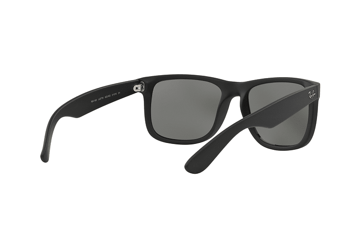 Ray Ban Justin Rubber Black lente Mirror Silver cod. RB4165 622/6G 54 - Image 7