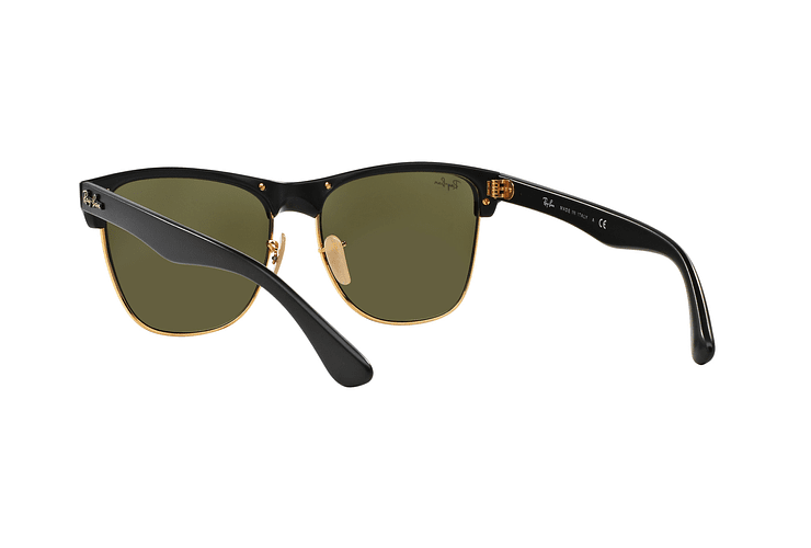 Ray Ban Clubmaster Oversized Shiny Black lente Silver Mirror cod. RB4175 877/30 57 - Image 5