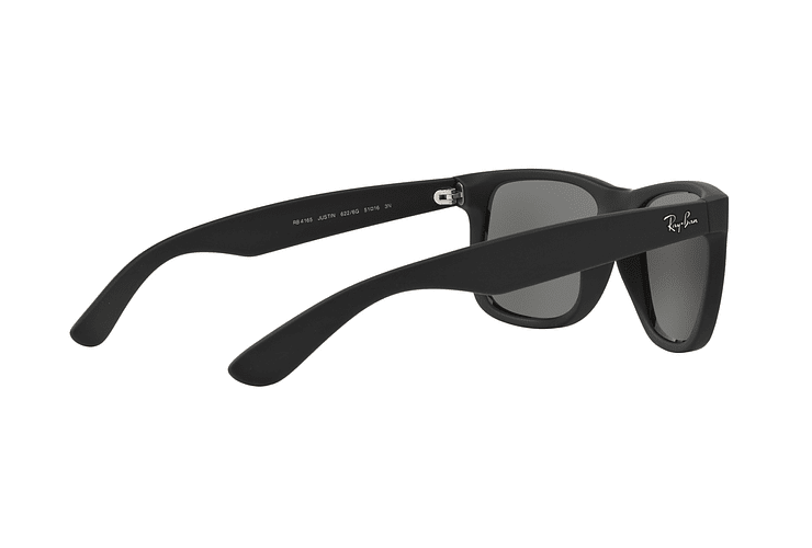 Ray Ban Justin Rubber Black lente Mirror Silver cod. RB4165 622/6G 54 - Image 8