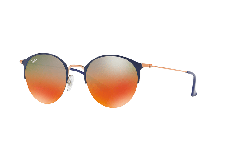 Ray Ban Round RB3578 Copper Blue lente Red Mirror Gradient cod. RB3578 9036A8 50 - Image 1