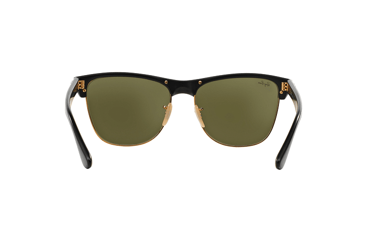 Ray Ban Clubmaster Oversized Shiny Black lente Silver Mirror cod. RB4175 877/30 57 - Image 6