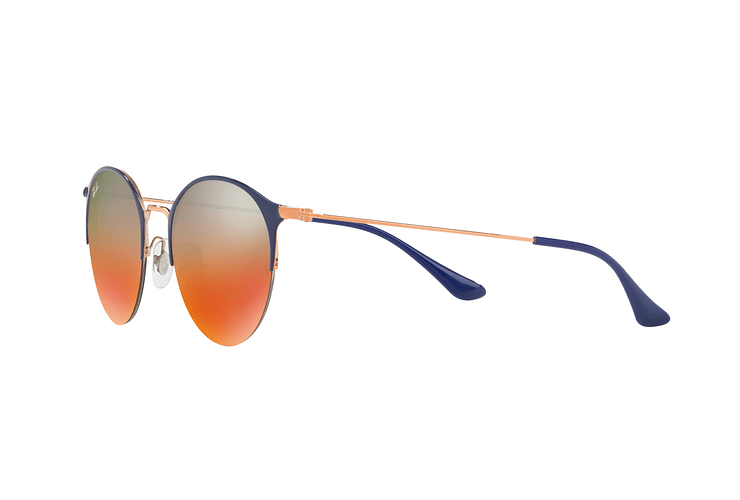 Ray Ban Round RB3578 Copper Blue lente Red Mirror Gradient cod. RB3578 9036A8 50 - Image 2