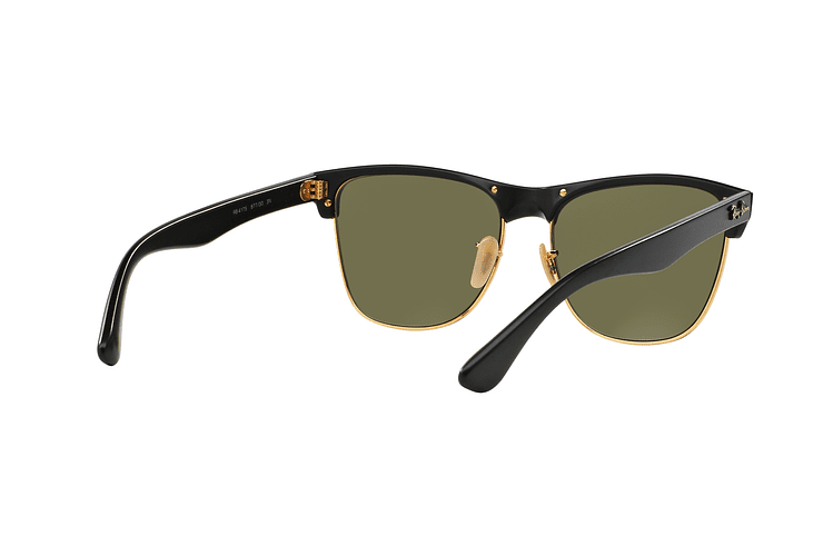 Ray Ban Clubmaster Oversized Shiny Black lente Silver Mirror cod. RB4175 877/30 57 - Image 7