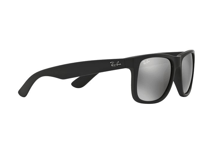 Ray Ban Justin Rubber Black lente Mirror Silver cod. RB4165 622/6G 54 - Image 10