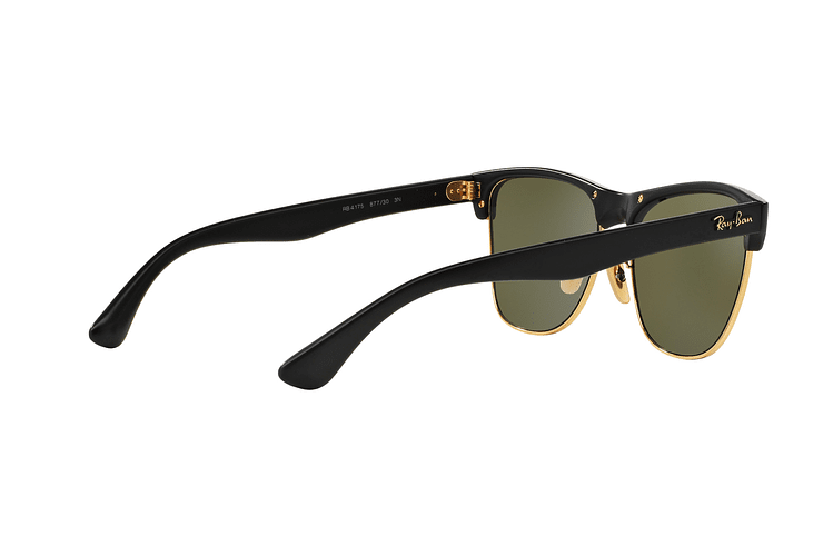 Ray-Ban Clubmaster Oversized Shiny Black lente Silver Mirror cod. RB4175 877/30 57 - Image 8