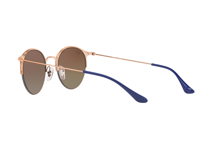 Ray Ban Round RB3578 Copper Blue lente Red Mirror Gradient cod. RB3578 9036A8 50 - Image 4