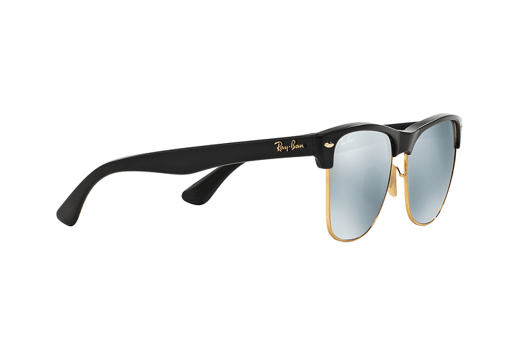 Ray-Ban Clubmaster Oversized Shiny Black lente Silver Mirror cod. RB4175 877/30 57 - Image 10