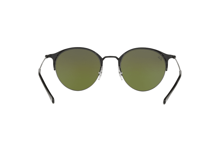 Ray Ban Round RB3578 Black lente Mirror Blue Gradient cod. RB3578 186/B1 50 - Image 6