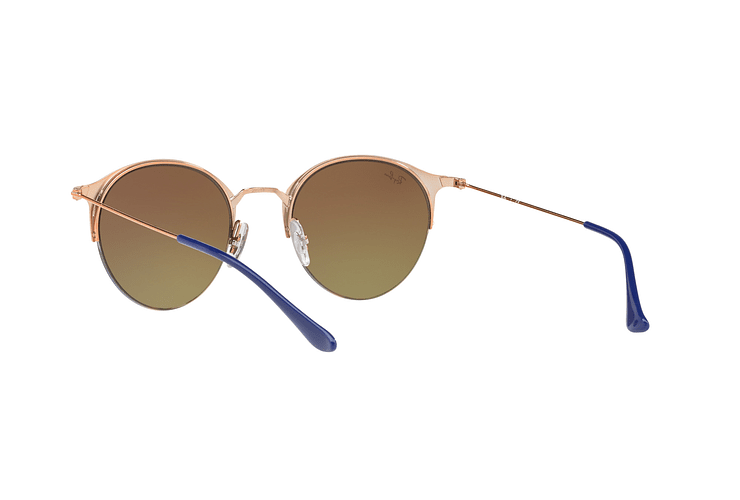 Ray Ban Round RB3578 Copper Blue lente Red Mirror Gradient cod. RB3578 9036A8 50 - Image 5